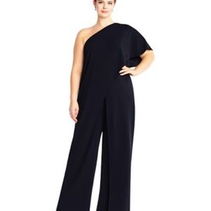 Adrianna papell one Shoulder  jumpsuit NWT 16W